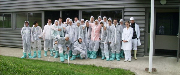 First year pig-breeding students trip to France