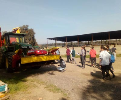 Agricultural machinery visits in Can Fraser I Juscafresa